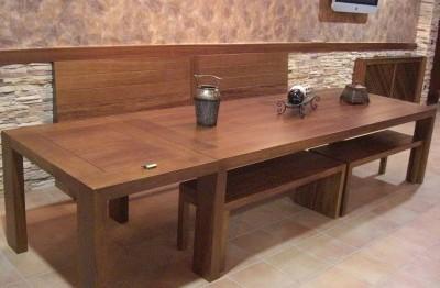Mesa comedor + bancos